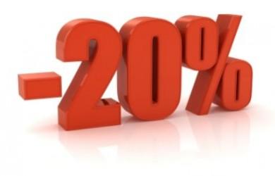 20% rabatt på t-skjorter