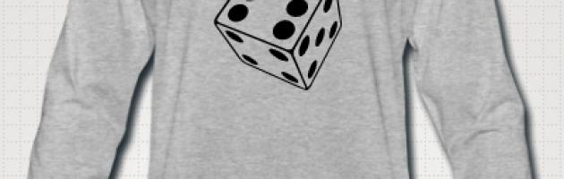 langermet t-skjorte med trykk